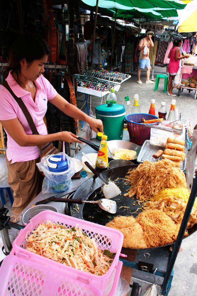 Street Vendors In Bangkok Thailand