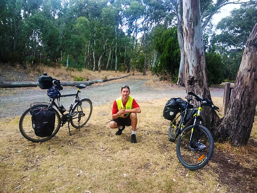 Our first rest stop on our mini bicycle tour just outside Dandenong